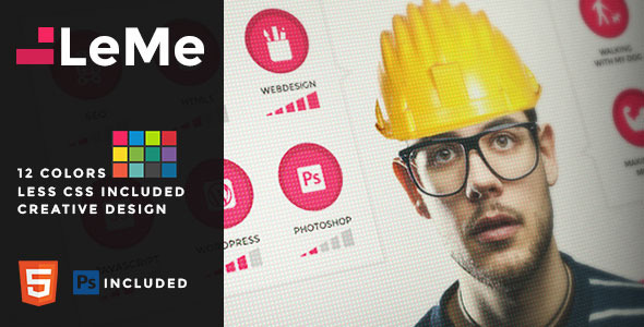 ThemeForest LeMe Creative Personal Template 9521281