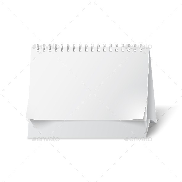 GraphicRiver Blank Paper Desk Calendar 9611333