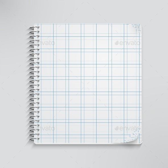 GraphicRiver Realistic Spiral Notebook 9611416