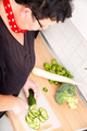 Woman cutting vegetables - PhotoDune Item for Sale