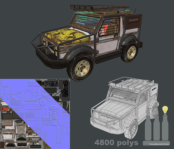 Mobile Post Apocalyptic / Anti-Zombie 4x4 - 3DOcean Item for Sale