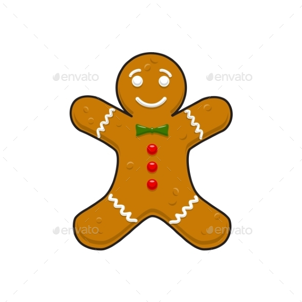 GraphicRiver Christmas Decorative Gingerbread Cookieman 9612078