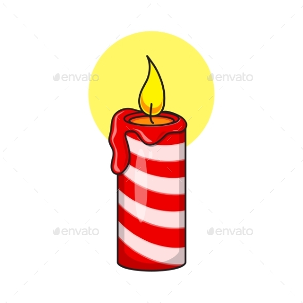 GraphicRiver Christmas Decorative Candle 9612083