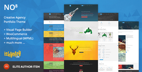 ThemeForest NO8 WP Creative Agency Portfolio Theme 9552676