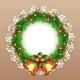 Christmas Wreath with Bells - GraphicRiver Item for Sale