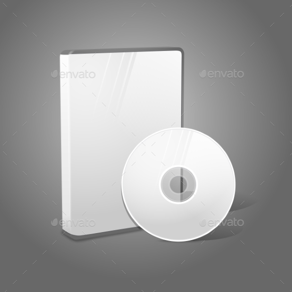 GraphicRiver White Realistic Isolated CD and Case 9612463