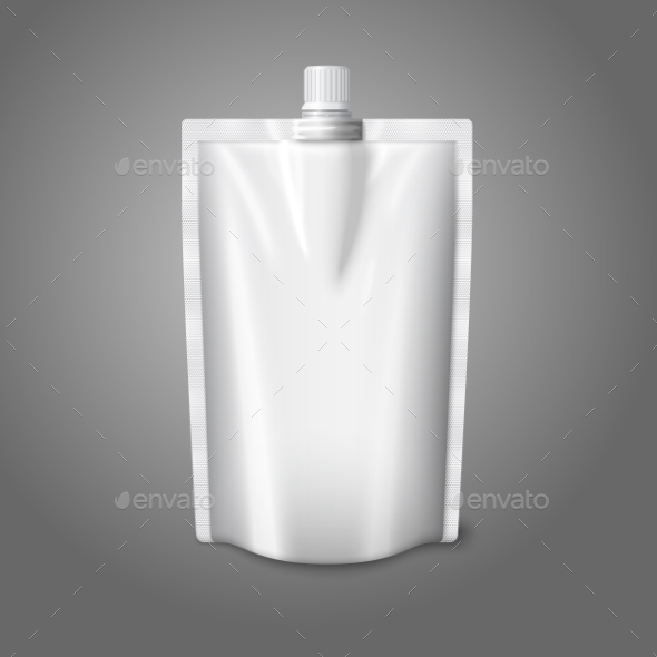 GraphicRiver Blank White Realistic Plastic Pouch with Cap 9612464