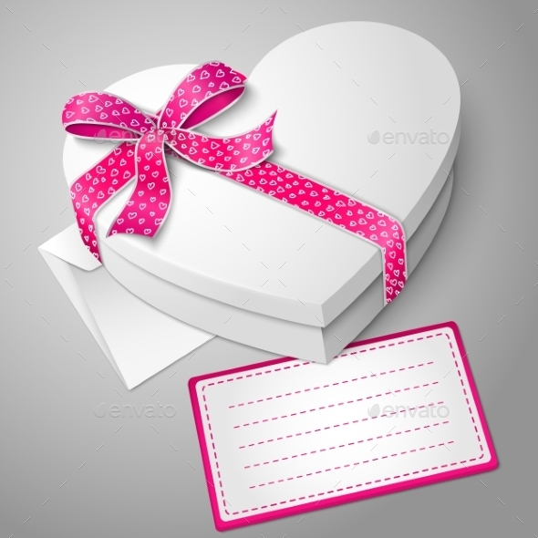 GraphicRiver Realistic Blank White Heart Shape Box 9612487
