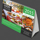 Desk Calendar for 2015 ready for print - GraphicRiver Item for Sale