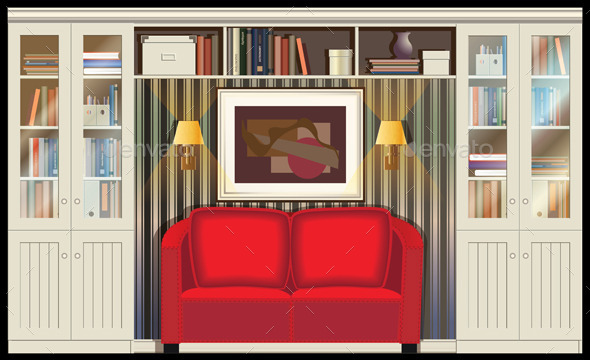 GraphicRiver Room with a Sofa 9612571