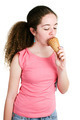 Cute Teenage Girl Eating Ice Cream - PhotoDune Item for Sale