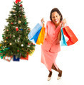 Excited African-American Christmas Shopper - PhotoDune Item for Sale