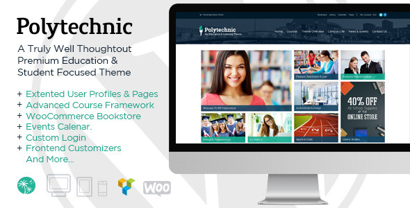 ThemeForest Polytechinc Powerful Education Courses & Events 9222581