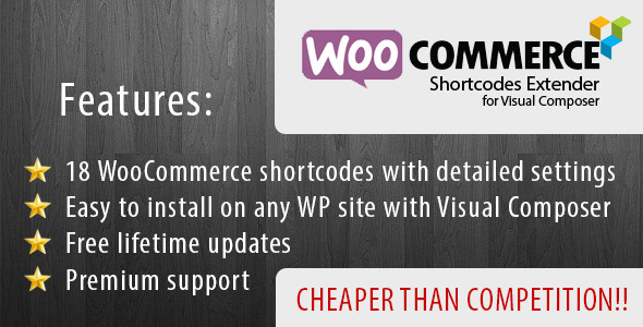 CodeCanyon WooCommerce Shortcode Extender for Visual Composer 9487744