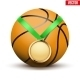 Sport Gold Medal with Basketball - GraphicRiver Item for Sale