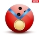 Medal with Bowling Ball - GraphicRiver Item for Sale