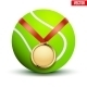Sport Gold Medal with Ribbon for Tennis - GraphicRiver Item for Sale