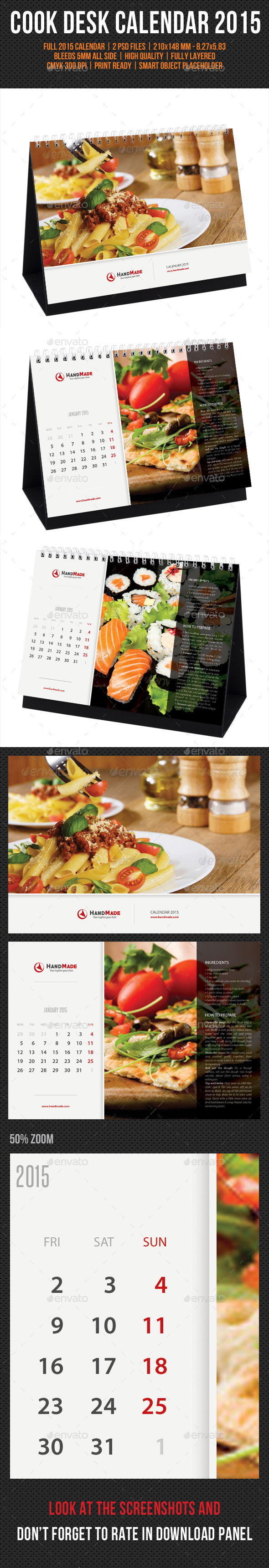 GraphicRiver Cook And Food Desk Calendar 2015 9612840