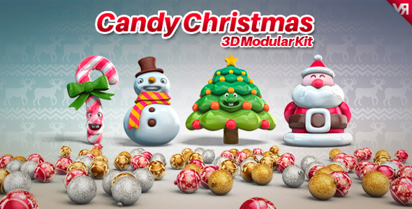 Candy Christmas - 3D Modular Kit