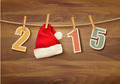 Holiday background with 2015 and a santa hat.  - PhotoDune Item for Sale