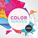 Futuristic Abstract Flyer/Poster - Color Waves - GraphicRiver Item for Sale