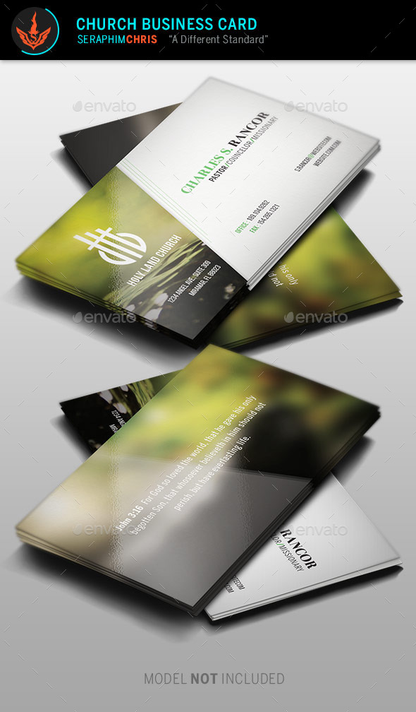 GraphicRiver Church Business Card Template 9613354