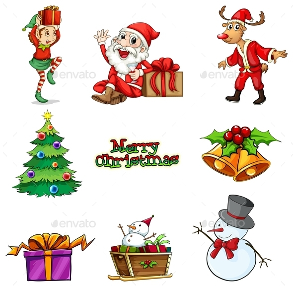 GraphicRiver Christmas Decorations 9613464