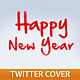 Happy New Year Twitter Cover - GraphicRiver Item for Sale