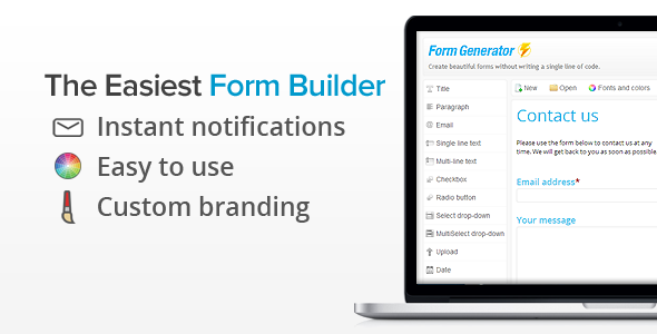 Form Generator - WordPress Form Builder - CodeCanyon Item for Sale