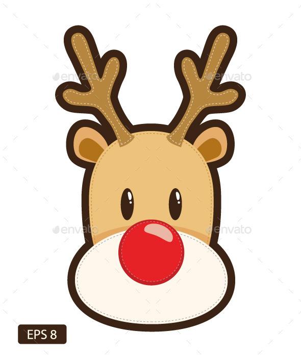 GraphicRiver Rudolf Red Nose Reindeer 9613537