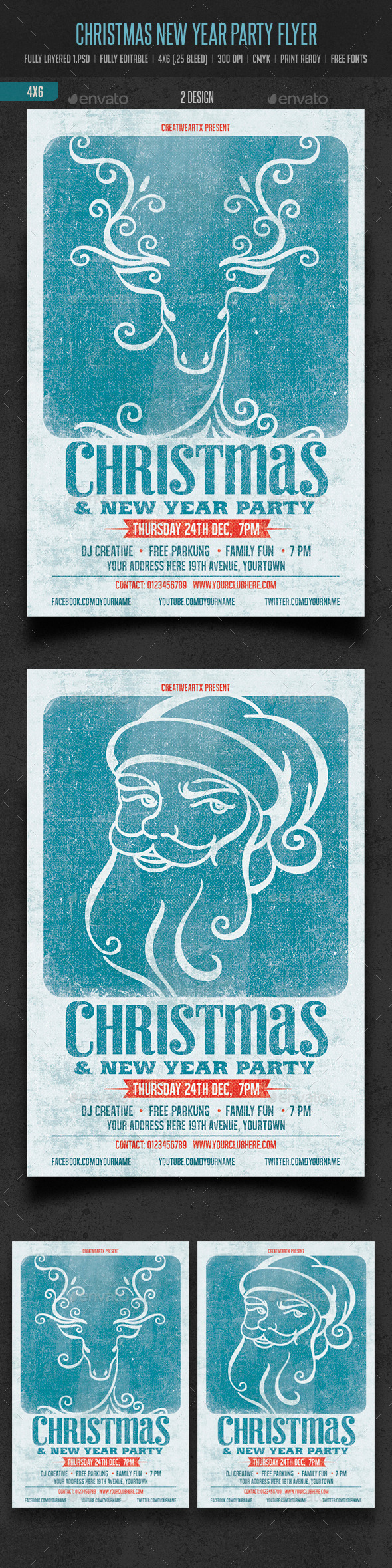 GraphicRiver Christmas & New Year Party Flyer 9613550