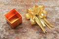 Golden Ribbon and Golden Gift Box - PhotoDune Item for Sale