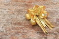 Golden Ribbon on old wood background - PhotoDune Item for Sale