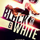 Black & white Party Flyer - GraphicRiver Item for Sale
