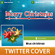 Blue Christmas Twitter cover - GraphicRiver Item for Sale