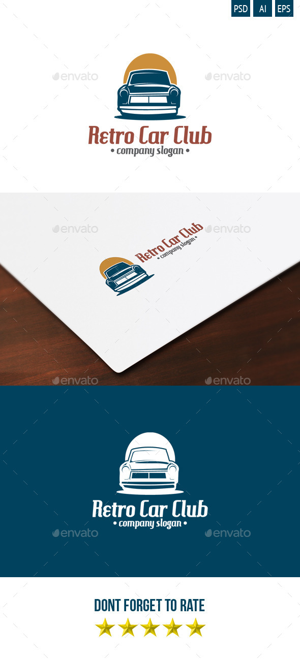 Retro Car Club Logo - Objects Logo Templates