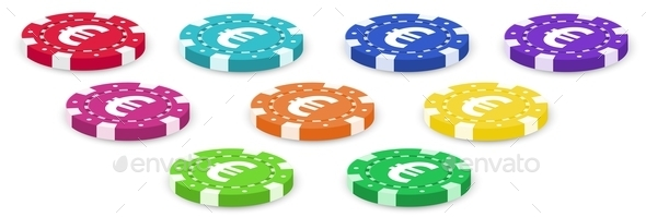 GraphicRiver Colorful Poker Chips 9614699