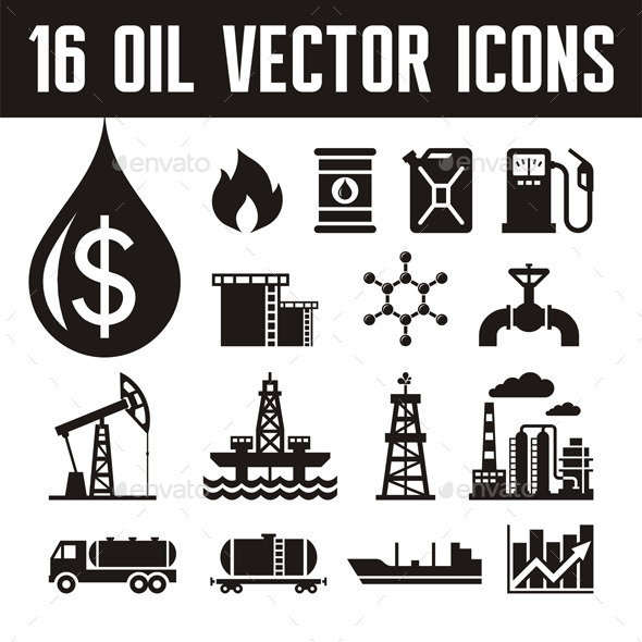 GraphicRiver 16 Oil Industry Icons 9614723