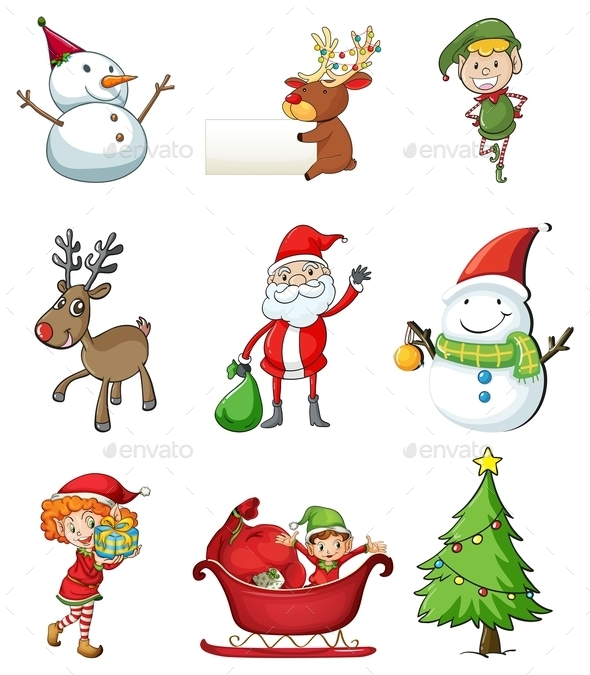 GraphicRiver Christmas Symbols 9614747