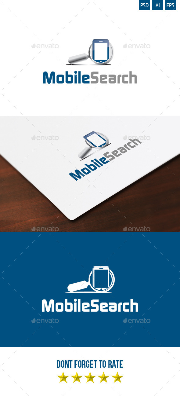 Mobile Search Logo - Objects Logo Templates