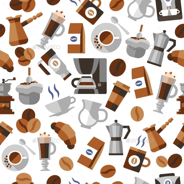 GraphicRiver Coffee Pattern 9614944
