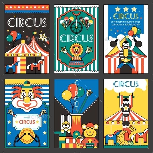 GraphicRiver Circus Retro Posters 9614983