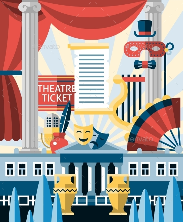 GraphicRiver Theatre Icons Concept 9614989