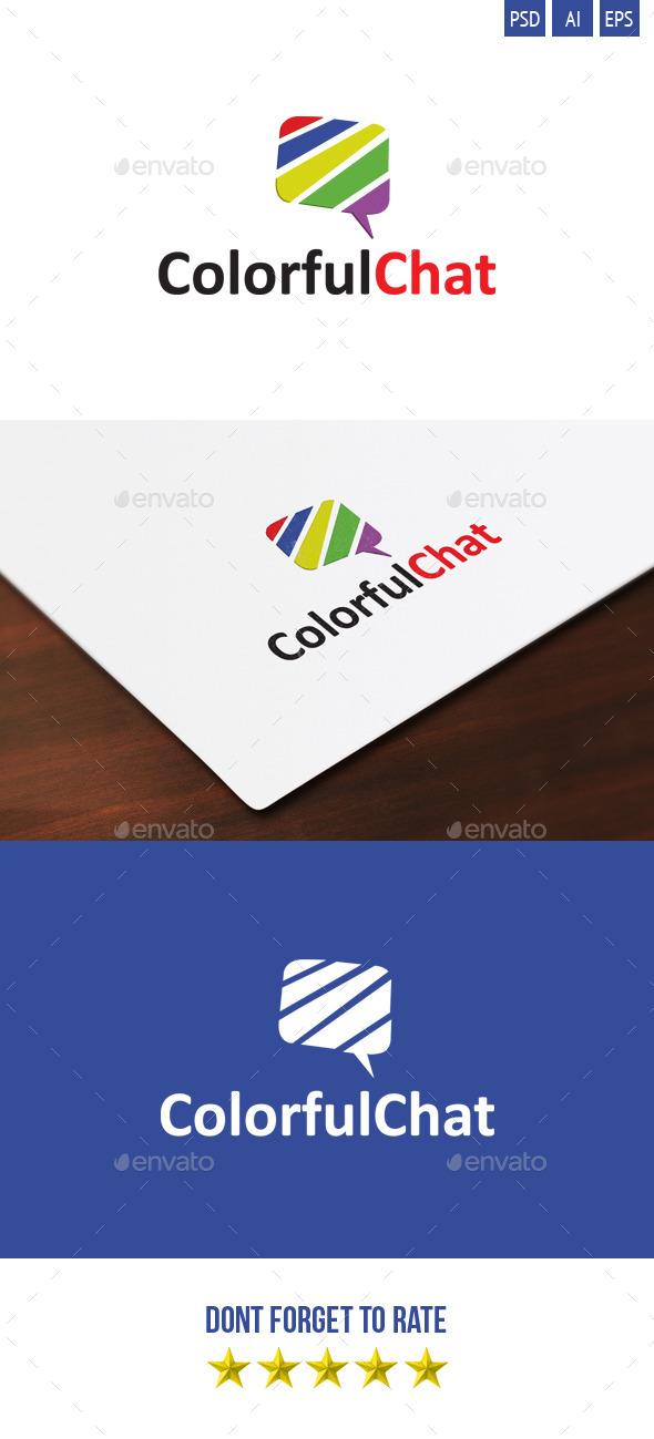 ColorfulChat Logo - Symbols Logo Templates
