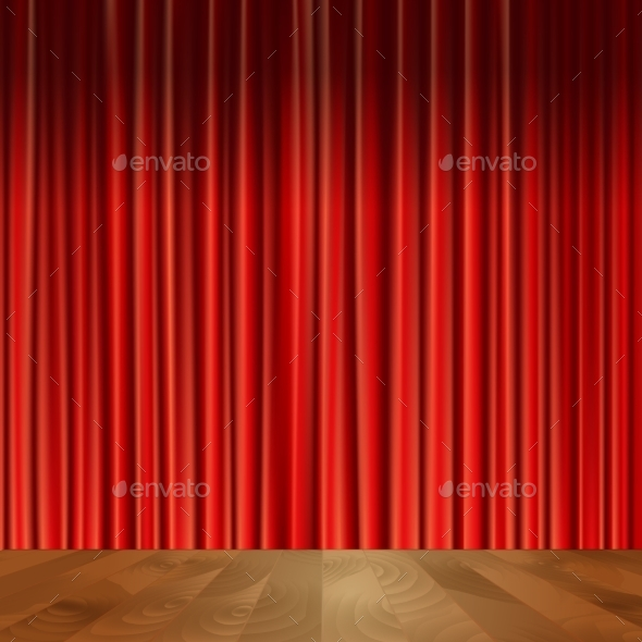 GraphicRiver Theater Curtains Background 9615078