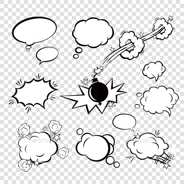 GraphicRiver Comic Set Bubbles 9615087