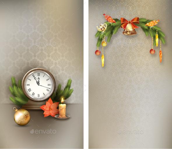 GraphicRiver Christmas Vintage Banners 9615093