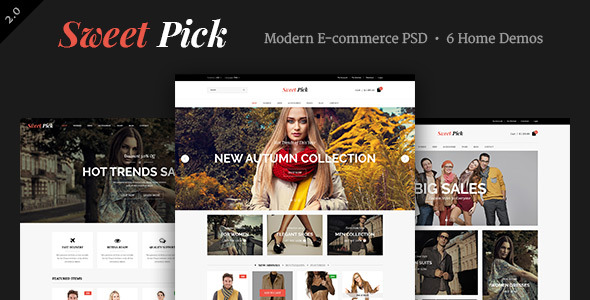 Sweet Pick | Modern E-commerce PSD Template
