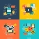 Cinema Flat Icons Composition - GraphicRiver Item for Sale