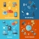 Communication Flat Icon Set - GraphicRiver Item for Sale